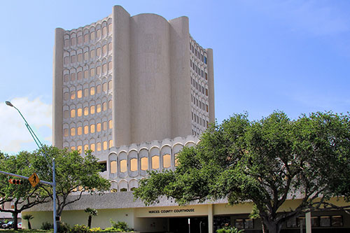 Front view of Nueces County Courthouse